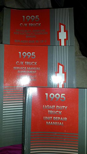 (1995 Chevrolet GMC C/K CK Truck Service Shop Repair Manual SET FACTORY OEM BOOKS)