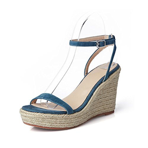 Toe Super Wedge Lady Xing Bei Sandalias size 34 summer High Ploe Heels Straw Firm sandalias Bao sandalias H6PIxqwAI