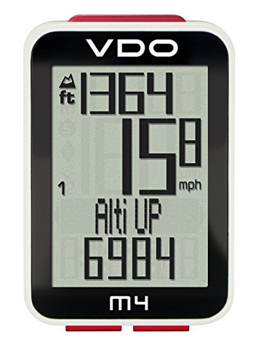 VDO M4 Wireless Barometric Altimeter Super Durable Large Backlight Display Four-part display Sensor Data Transmission Digital Bicycle Computer