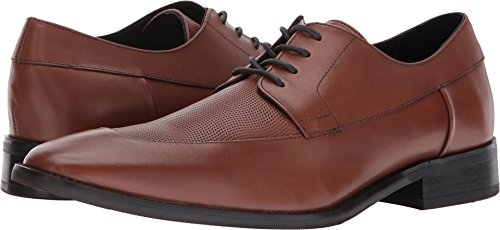 Oxfords Brown Calf (Calvin Klein Men's Rambert Calf Lthr Oxford, Tan, 11.5 M US)
