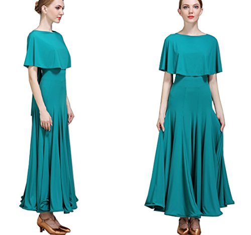modern dress Evening dress Ballroom Green National dance Waltz dress style dress rrf0wH5x