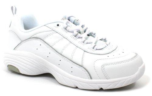 (Easy Spirit Women's Punter Athletic Shoe,White/Light Grey,9 M)