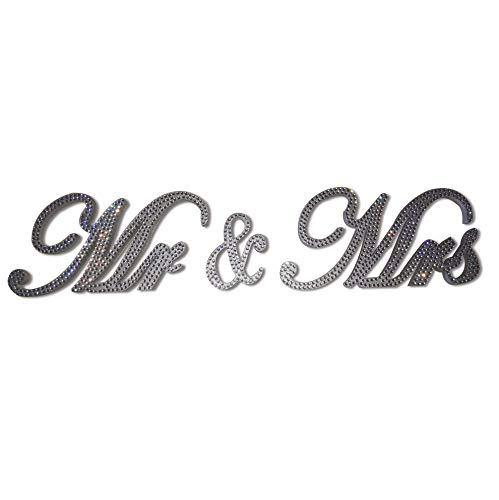 - Love Decor Studio _ 1968 Mr & Mrs Sign Crystal Rhinestone Sweetheart Table Head Table Wedding Decoration Wedding Gift (6 inches)