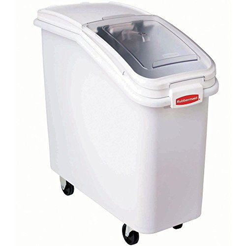 Rubbermaid ProSave 21 gal White Plastic Ingredient Bin With