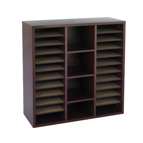 Safco Products 9441MH Apres Modular Storage Literature Organizer, Mahogany by Safco Products