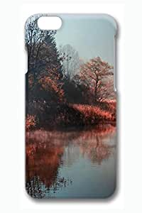 Brian114 6 Case, iPhone 6 Case - 3D Fashion Print Drop Protection Case for iPhone 6 Lake Mist 2 Scratch Resistant Case for iPhone 6 4.7 Inches