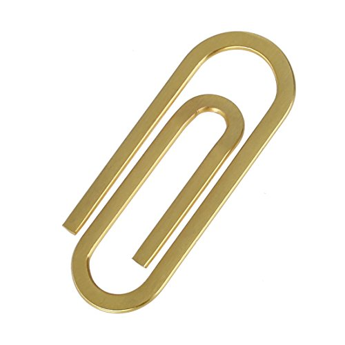 EQA13B02 Gold Fitness Fashion Young Paperclip Money Clip & Credit Card Holder Mens Present Ideas for Fathers' Day By Epoint
