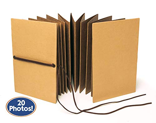 Bastex Small Scrapbook. Kraft Hardcover Photo Album, Fits 4x6 Inch Photos. Perfect for DIY Hand Made Scrap Booking, Our Adventure Book, Memory Albums, Wedding, Anniversary Gifts and ()