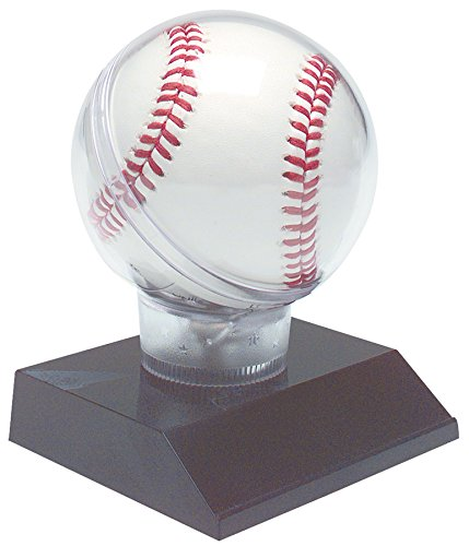 (Decade Awards All Star Baseball Holder on Black Base Trophy | Game Ball Display Case Award | 4.5 Inch - Free Engraved Plate on Request )