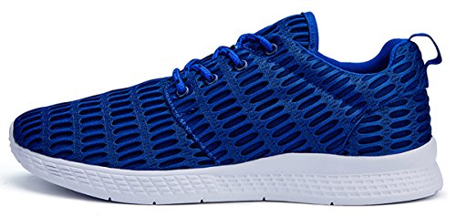 Running Sneakers Breathable Casual Mens Shoes Blue Mesh Athletic Jeneet Womens for xqEZXww