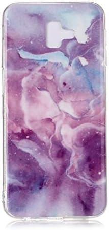 電話用BOYUHIIシリコン保護ケース ギャラクシーJ6 +カラー描画パターンIMD技量ソフトTPU保護ケース(ブルースカイ)の場合 ATCYE (Color : Purple Star)