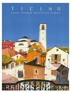 World Travel Giclee Art Print Ticino Southern Switzerland 16 x 20 in.