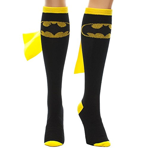 Batman Superhero Black Cape Sock, Womens shoe size (Batman Female Costumes)