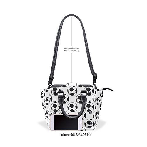 Handle White Bags TIZORAX Fashioned PU Leather Handbags Women's Old Top Football Shoulder Watercolor SIqSv