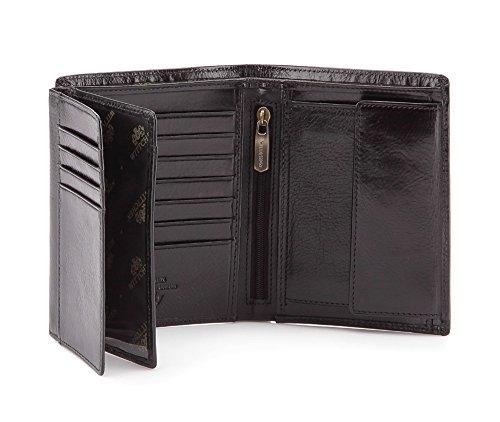 Wittchen Brieftasche   Farbe: Schwarz  Material: Narbenleder  Größe: 11x13 CM,   Orientierung: Vertikal   Kollektion: Italy  21-1-221-1