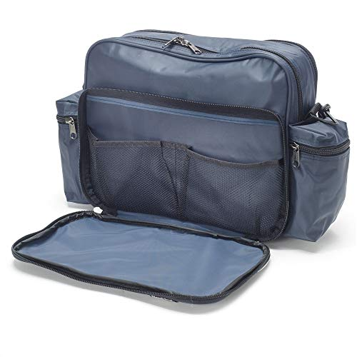 Hopkins Medical Products Original Home Health Shoulder Bag - Navy (Adc Nylon Medical Bag)