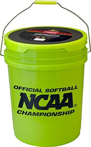 Rawlings Sporting Goods B518  Softball Bucket & 18 Cork Center Softballs