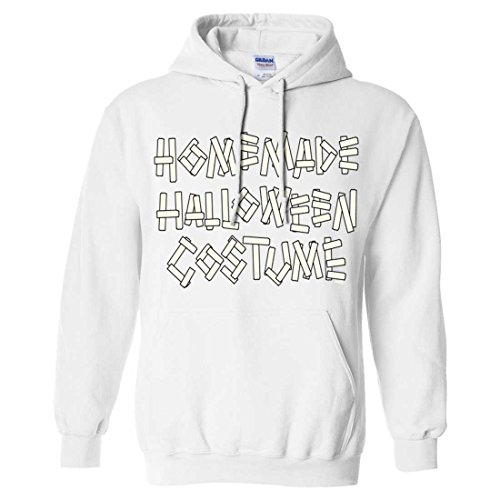 Homemade Halloween Costume Sweatshirt Hoodie - White X-Large (Homemade Halloween Costumes For Men)