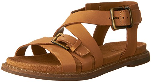 CLARKS Women's Corsio Bambi Platform, Light Tan Leather, 6 Medium US by CLARKS