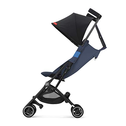 41Jj4W7JVRL - Gb Pockit+ All-Terrain, Ultra Compact Lightweight Travel Stroller With Canopy And Reclining Seat In Night Blue