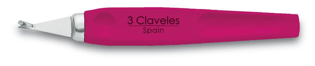 3 Claveles 12352 Cortacuticulas, Inoxidable de 10 cm