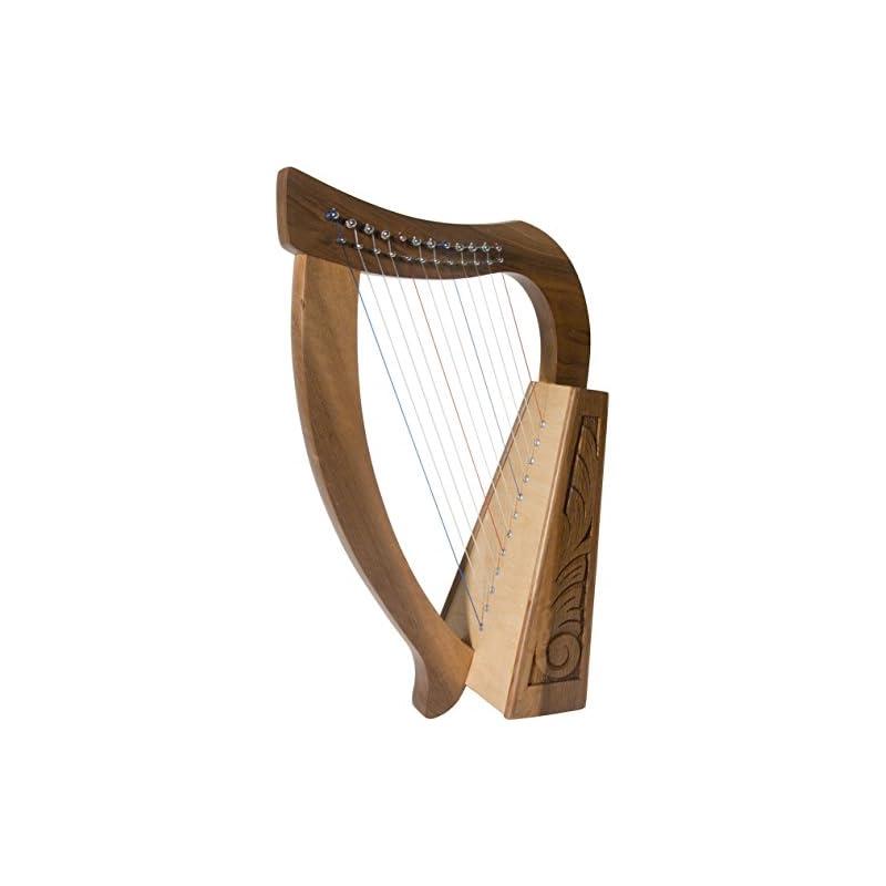 Roosebeck Baby Harp 12 String Walnut + E