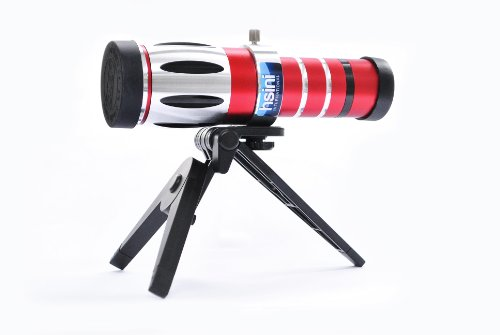 hsini 20x Optical Zoom Telescope Camera Lens Telephone Telephoto Lens for Samsung S5 i9600 - Wearable Tech - red