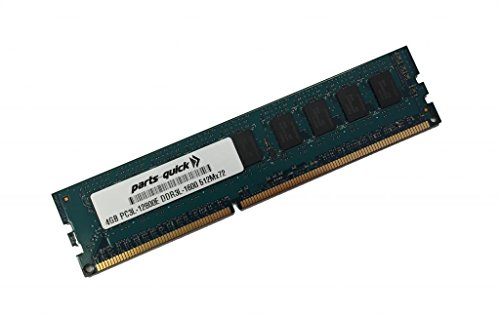 4GB Memory for Intel S5520HC/S5520HCR/S5520HCT Server DDR3L-1600MHz PC3L-12800E ECC UDIMM (PARTS-QUICK BRAND) (Server S5520hc)