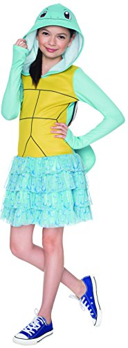 Squirtle Costume Kid (Rubie's Costume Pokemon Squirtle Child Hooded Costume Dress Costume, Small)