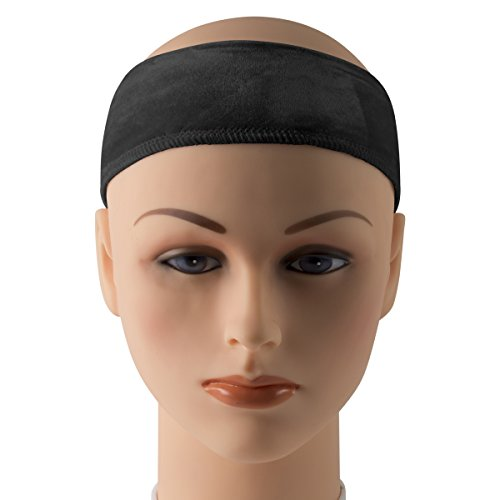 Head Velcro - Wig Grip Head Band with Velcro Closure, Adjustable Size, Comfortable Wear Without Clips, Black, by Adolfo Designs