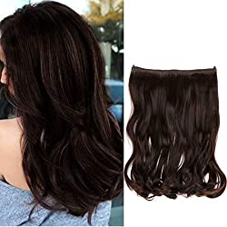 """Creamily 14"""" Wavy Curly Synthetic Hair Extension Secret Miracle Heat Resistance Hair Wire Hairpieces No Clip for Women (2/30)"""