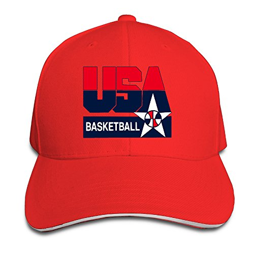 Price comparison product image Summer 2016 Olympic USA Basketball Logo Trucker Tats Red Sandwich Peaked Cap