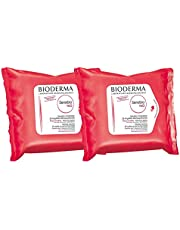 Bioderma Sensibio H2O Duo - Biodegradables Wipes - Cleansing and Make-Up Removing - Skin Soothing - for Sensitive Skin - 2x25 Wipes, 50 Count