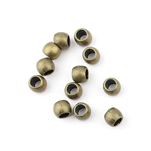 100 pieces Anti-Brass Fashion Jewelry Making Charms 2909 Piercing Spacer Beads Wholesale Supplies Pendant Craft DIY Vintage Alloys Necklace Bulk Supply Findings Loose