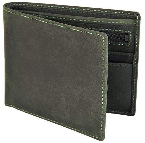 Coin Oil RFID Leather Green 707 Men's Pocket Oil Wallet Zipped Visconti Blue With Distressed Oil 81Unx1wOq