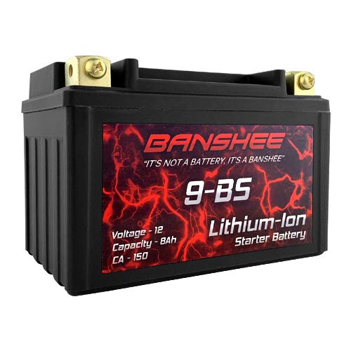 9BS Lithium Ion Sealed Battery Replaces YTX9-BS 12V 150 CA Motorcycle Scooter by Banshee