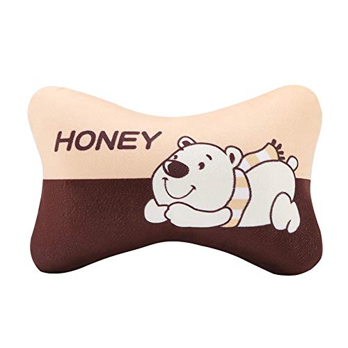 Bears Mvp Pillow - Zhjmgmxg Neck Pillow Comfortable Driving Car Neck Pillow with High Rebound PP Cotton Neck Support for Car Seat Headrest Train Car Bus Office Napping (Color : Naughty Bear)