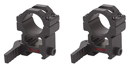 TAC Vector Optics Tactical 25mm 1 Inch Quick Release Scope High Picatinny QD Mount Ring 1 Pair Sale fit GAMO BSA Leapers Riflescopes Color Matte ()