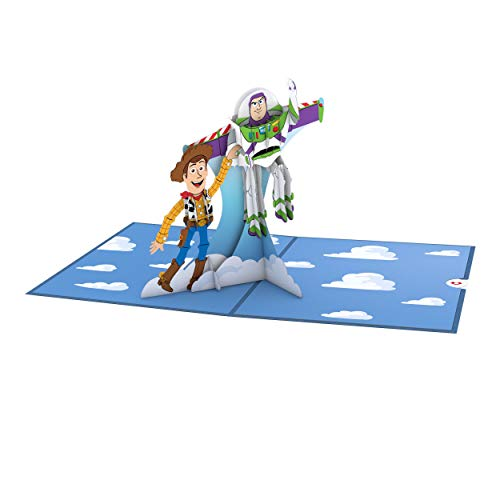 Lovepop Disney Pixar Toy Story Woody and Buzz Pop Up Card, Birthday Card, 3D Cards, Greeting Card, Disney Card, Birthday Card for Kids