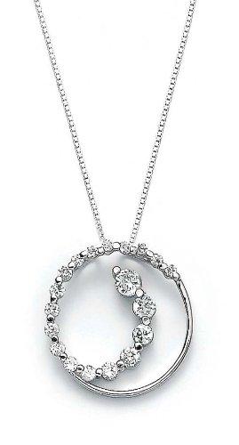 En argent sterling zircon cubique pendentif rond jewelryWeb chevilles -