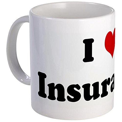 CafePress - I Love Insurance Mug - Unique Coffee Mug, Coffee Cup