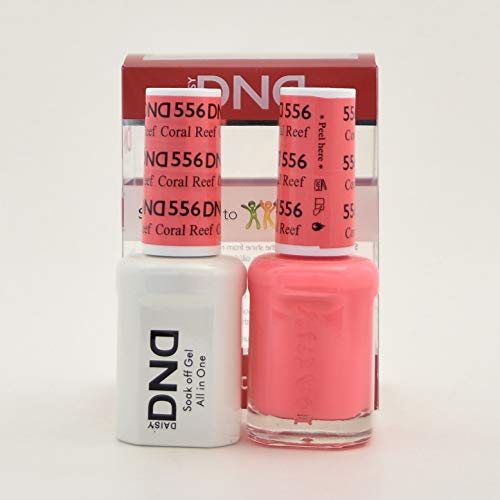 DND Gel and Matching Polish #556 Coral Reef
