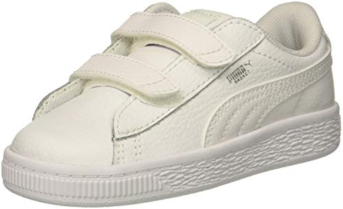 PUMA Baby Basket Classic LFS V INF Sneaker, White, 7 M US Toddler ()
