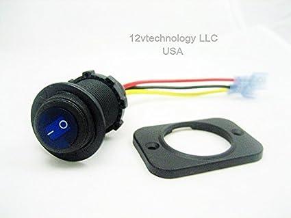 2 qty Weatherproof Switch SPST Toggle 2 wire hookup simple 12v DC JET Ski