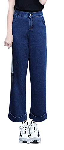 Youtobin Youtobin Women Trendy Waisted Stylish Flared Bottom Jeans 32 Dark - Victoria Where To Buy Beckham