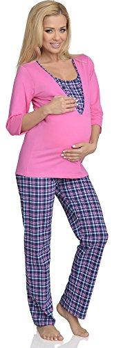 Rosa V2R4N381 Funzione 1 Be Allattamento Mammy Pigiama con Premaman 4w0wTHq