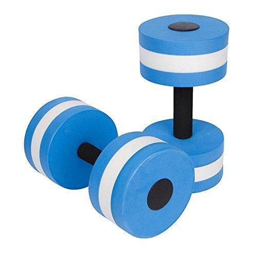 AIR SIX Aquatic Exercise Dumbells - Set of 2PCS - Foam Dumbbells Water Aerobics Fitness - Blue