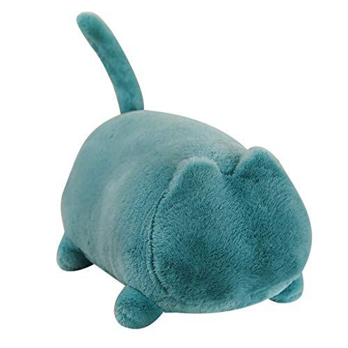 Transser Very Soft Cat Big Hugging Pillow Plush Kawaii Plush Cat Toys Stuffed Cute Dolls Gift Animal Baby Kids Doll Sleeping Bolster Pet Throw Pillow Gift for Kids Girlfriend (Blue) (Pets Cushion Cuddle)