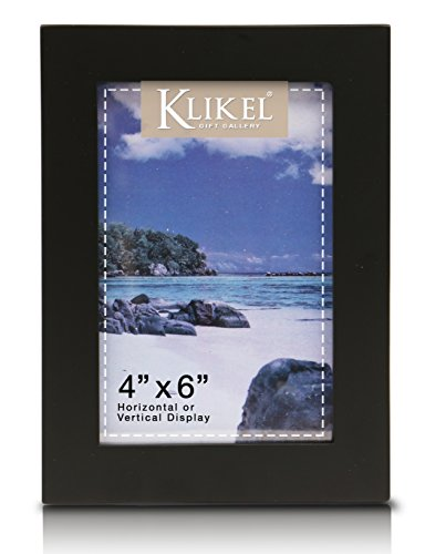 Klikel 4 X 6 Black Wooden Picture Frame - Black Wooden Wall Hanging And Table Standing Photo Frame