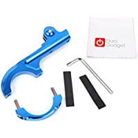 DURAGADGET Ultra-Strong Forged Aluminium Handlebar Mount in Blue with GoPro Style Mount - Compatible with the Kaiser Baas X80 | X150 Action Cameras - Plus BONUS Microfibre Cleaning Cloth!